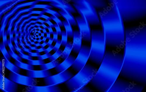 Foto op Plexiglas Spiraal Spirale in blau nach außen größer werdend