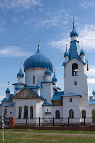 Zdjęcie XXL Rosja, Saint-Petersburg - maj 19, 2017: Kościół Narodzenia Pańskiego w Pulkovskaya Park