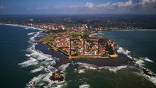 Aerial Shot Of Old Colonial Fort