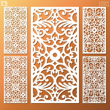 Ornamental Panels Template Set...