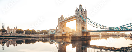 Poster de jardin Londres The Tower Bridge in London