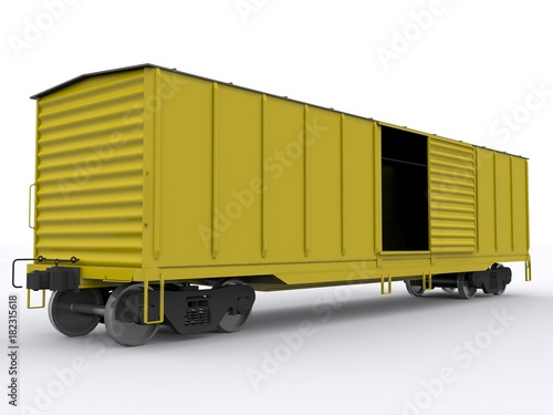Fotografie, Obraz  Boxcar isolated