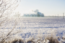 Grain Bins In Winter