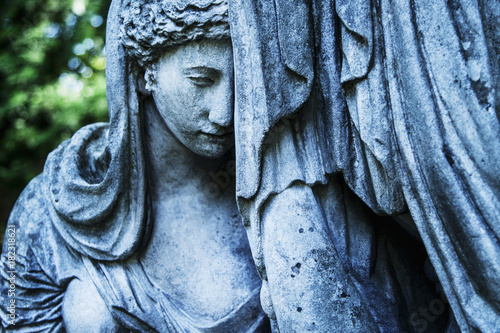 Statue Of Woman On Tomb As A Symbol Of Depression And Sorrow Faith