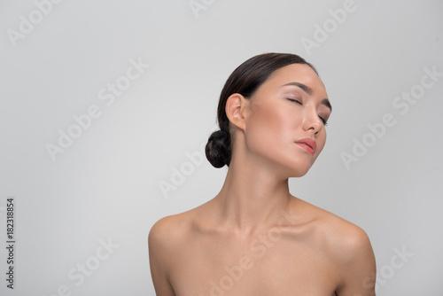 Asian woman pleasures