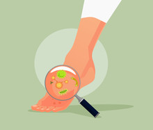 Foot Fungus. Vector Flat Carto...