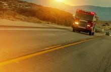 Firetruck Speeding On Highway