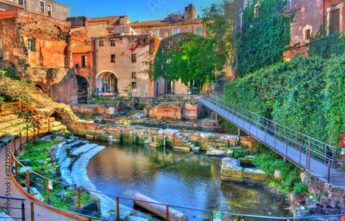 Fotografia Greek-Roman Theatre of Catania in Sicilia, Italy