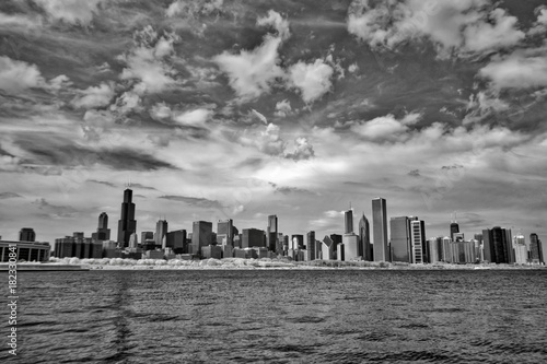 Fotografia, Obraz  Chicago waterfront in infrared
