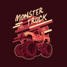 Classic Truck Car Illustration