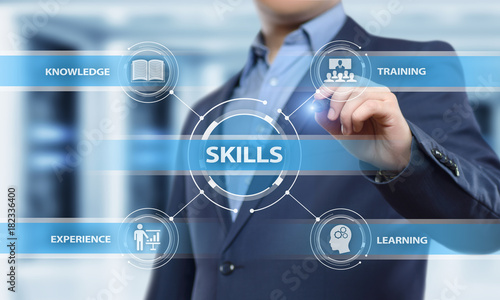 Skill Knowledge Ability Business Internet technology Concept Canvas Print