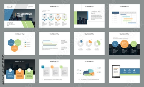 Fotografie, Obraz  business presentation page layout template design  with info graphic element for