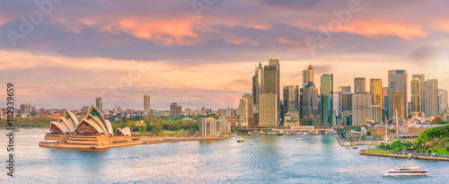 Foto op Canvas Sydney Downtown Sydney skyline