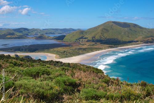 Photo  View over Hoopers inlet Otago Peninsula