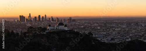 Plakat Piękne światło Los Angeles Downtown City Skyline Urban Metropolis