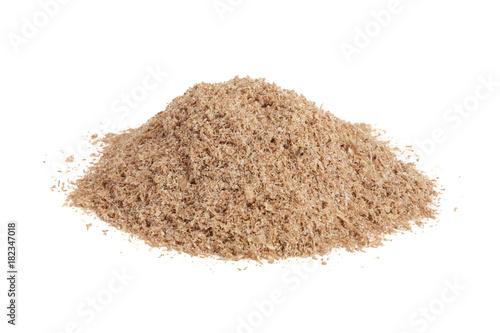 Fotografia, Obraz  Pile of wheat bran isolated on white background