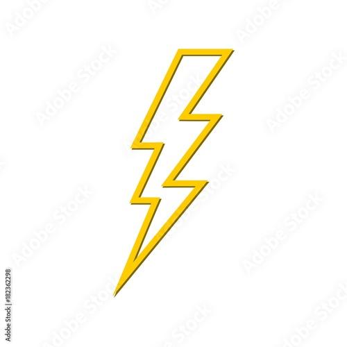 Fototapeta Lightning bolt icon  obraz na płótnie