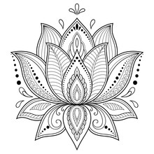 Henna Tattoo Flower Template I...