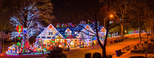 Christmas Lights Display House, Jamaica Estates, NY