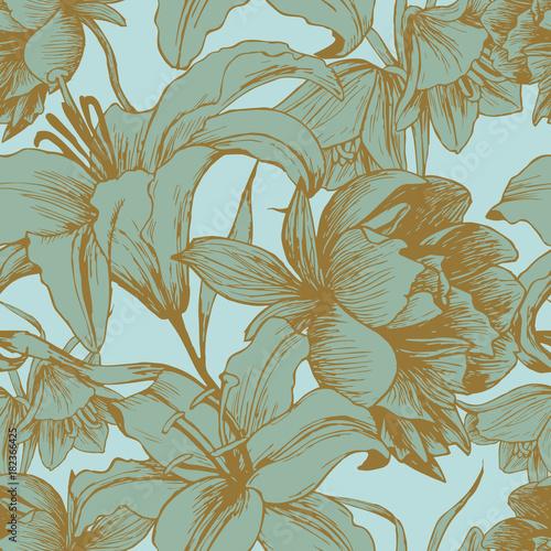 wektor-kwiatowy-wzor-z-piwonie-lilie-w-stylu-vintage