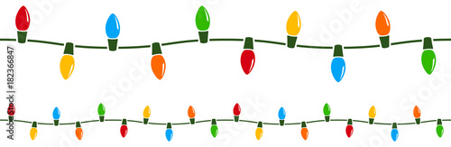 Photo  Vector illustration of a string of colorful holiday lights that can be joined end to end seamlessly to form longer strings as needed