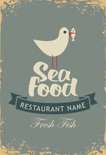 Vector Banner For A Seafood Re...