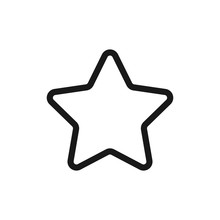 Simple Star Icon Outline