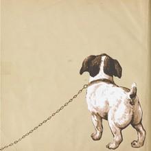 Jack Russel - Kleiner Hund Welpe Hündchen - Lithographie Vektor - Schwarz Weiß - Dog