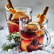 Christmas Cheer with hot spicy mulled red wine