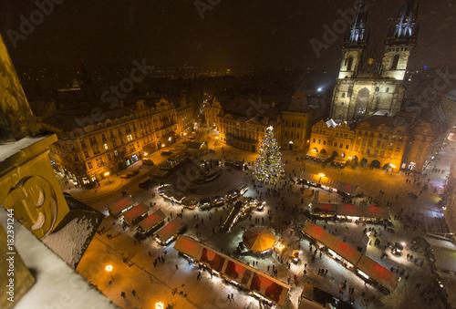 Fototapeta The Old Town Square at Christmas time. obraz na płótnie