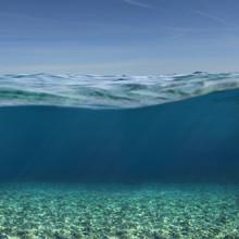 Sea Or Ocean Underwater Backgr...