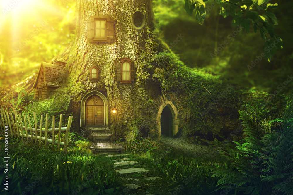 Fototapeta Fantasy tree house