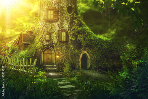 Fotografie, Obraz  Fantasy tree house