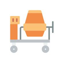 Construction - Cement Mixer - (Flat)