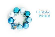 Blue Christmas Balls And An Ea...