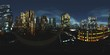 Leinwanddruck Bild - HDRI, Equirectangular projection, Spherical panorama., Night city,, Cityscape, Environment map
