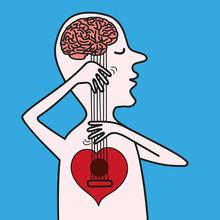 Cerveau - Cœur - Amour - Raison - Balance - Concept - Décision - Esprit - Aveugle - Décider