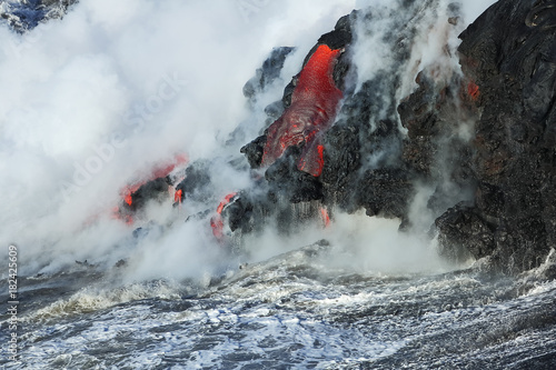 Poster Volcano Lava flows from the Kilauea volcano