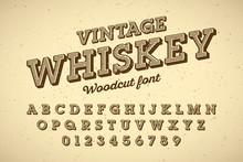 Woodcut Style Vintage Font
