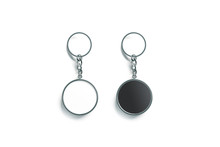 Blank Metal Round Black And Wh...