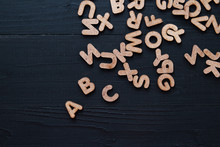 Close Up Wooden Alphabet Study...