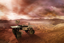 Mars Rover Exploring The Red P...