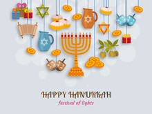 Hanukkah Greeting Card With To...