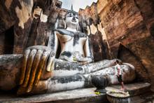Wat Si Chum Buddha Statue In Sukhothai, Thailand