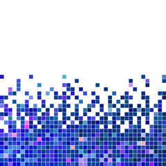 Panel Szklany Mozaika abstract vector square pixel mosaic background