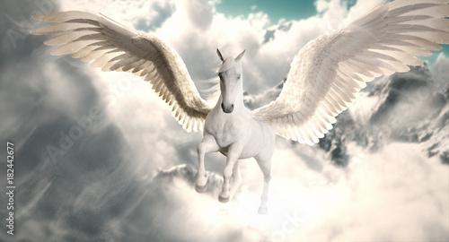 Flight of the Pegasus Wallpaper Mural