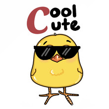 Cute Cool Yellow Chick Sunglas...