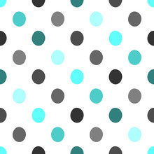 Seamless Polka Dots Pattern Ve...
