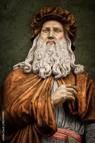 Poster Historic monument Leonardo da Vinci