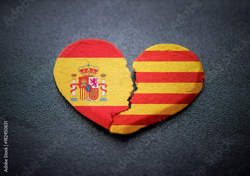 Separation Of Catalonia From Spain Symbol Of Broken Heart Buy This
